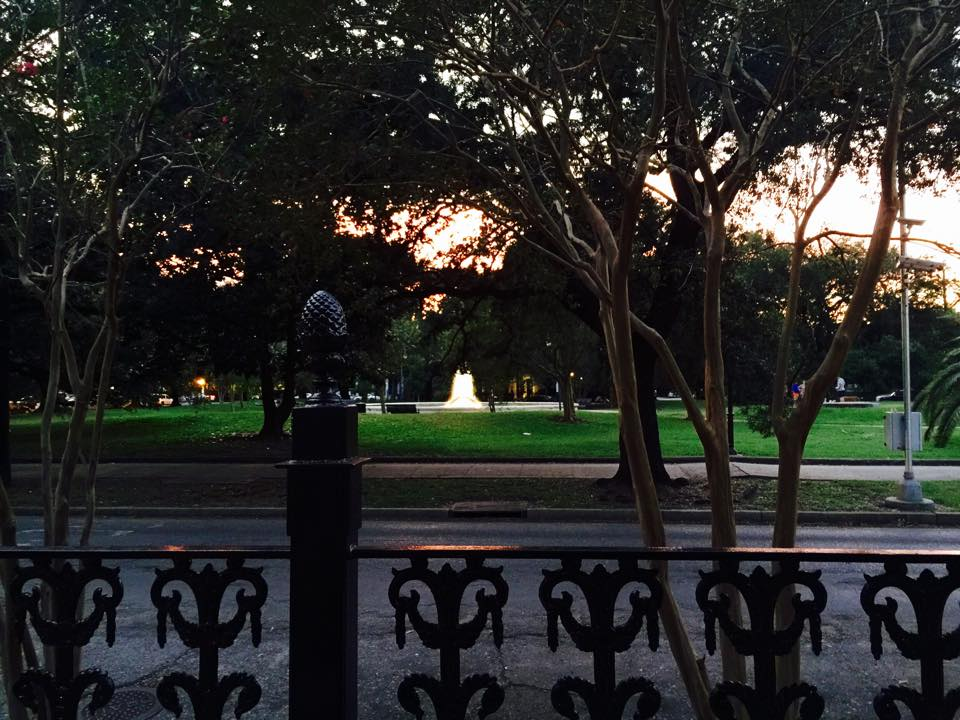 The fountain in Coliseum Square. Photo courtesy Bryan Francher.