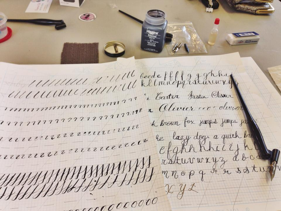 Gonola recommends 10 activities for a rainy day in new orleans calligraphy is a perfect rainy day activity please excuse my beginners hand photo nikki carter solutioingenieria Images