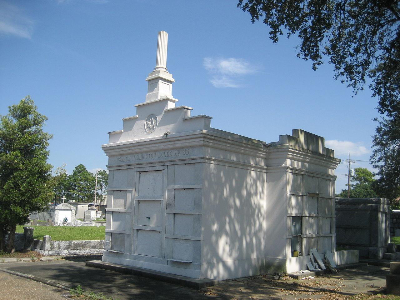 """Vaults of Geo. Washington Lodge, Masonic Cemetery. (Courtesy Carlos """"Froggy"""" May)"""