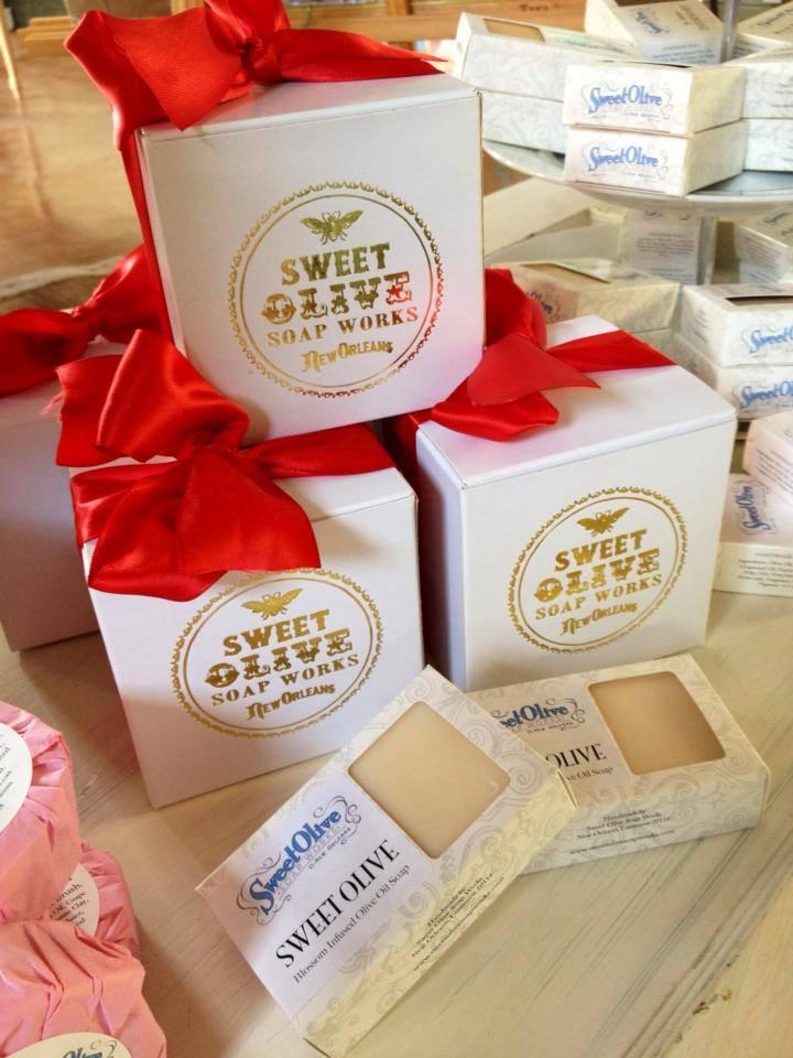 Sweet Olive Soap Works line is available at Nola Potter (photo source: Nola Potter Facebook)