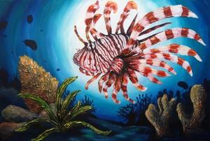 1WALKERALionFish24x36