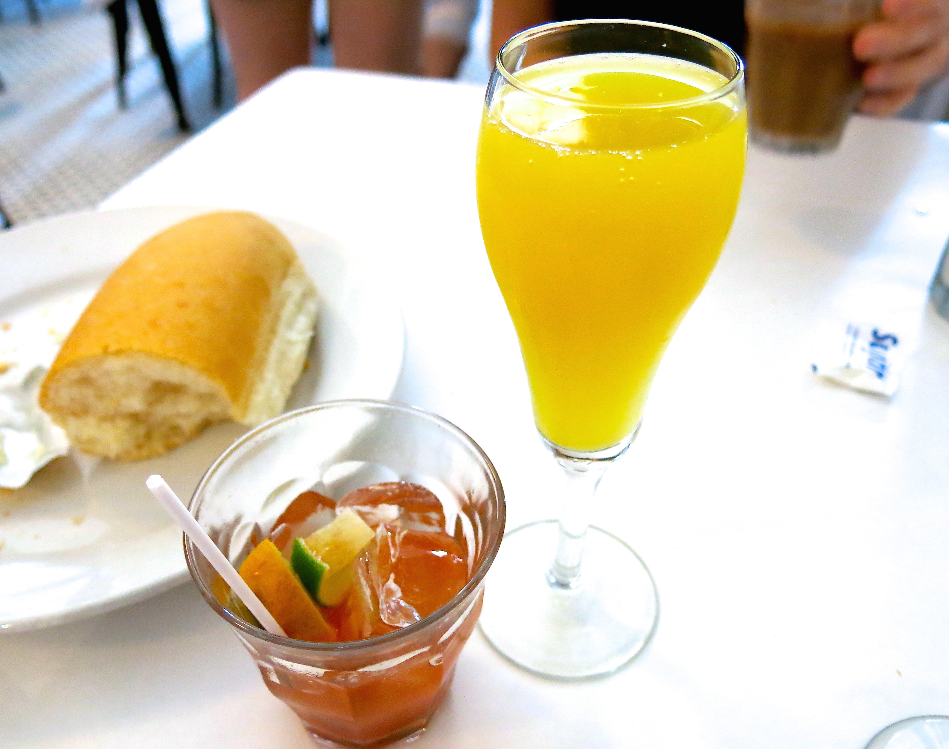 Bloody Mary and a mimosa. (Photo credit: Christopher Garland.)