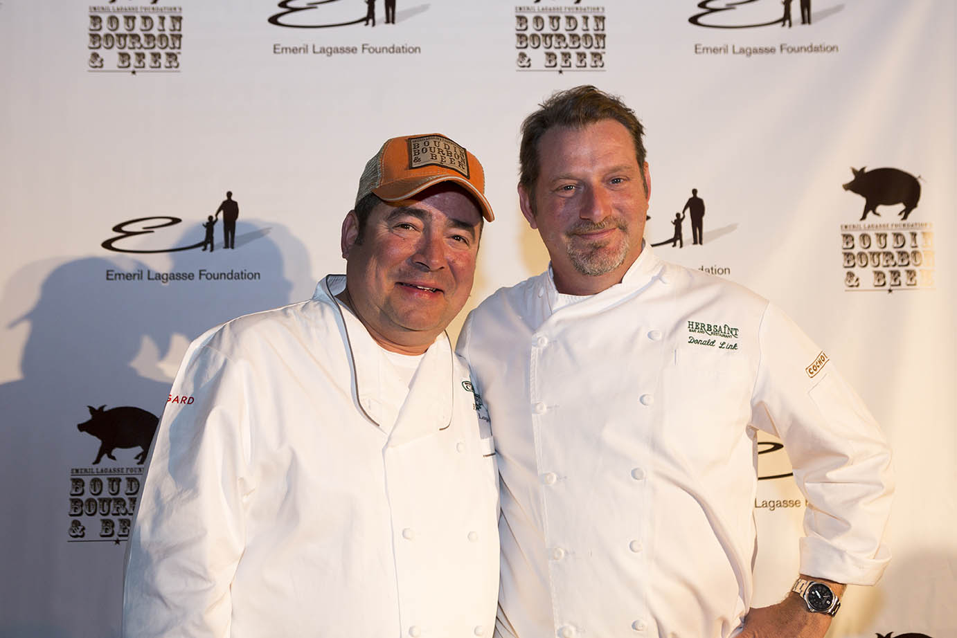 Chefs Donald Link and Emeril Lagasse