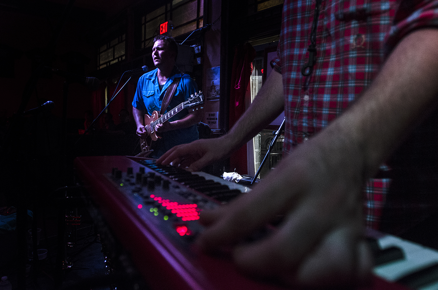 The Jesse Smith Project plays at The Maison on June 27, 2015. (Photo by Katie Sikora)