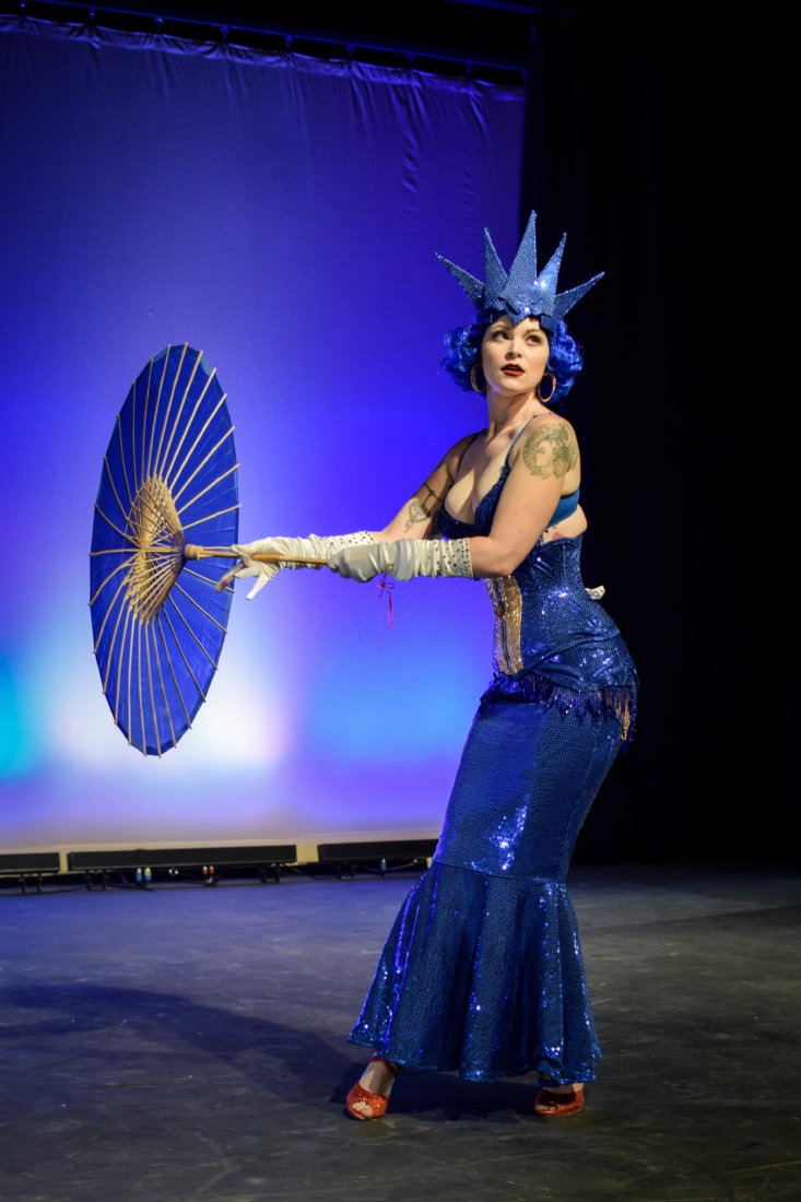 Festival headliner Dangrrr Doll closes out the 2017 festival with an act that combined Sonic the Hedgehog and classic burlesque (photo credit Mis Guided)