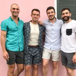 lgbt couples trip pink french quarter house