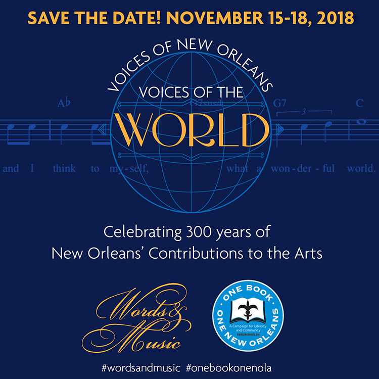 Words & Music: A Literary Feast in New Orleans runs November 15-18