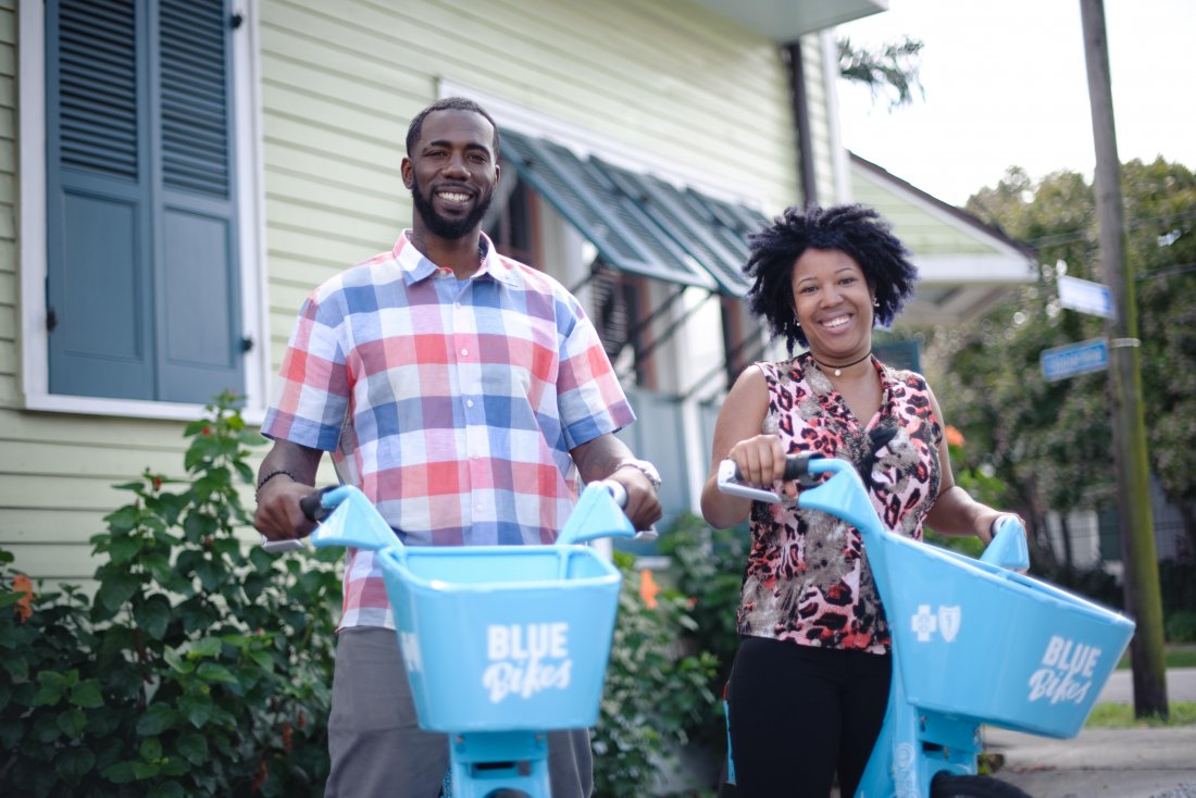 Blue Bikes (photo courtesy of NOLA Blue Bikes)
