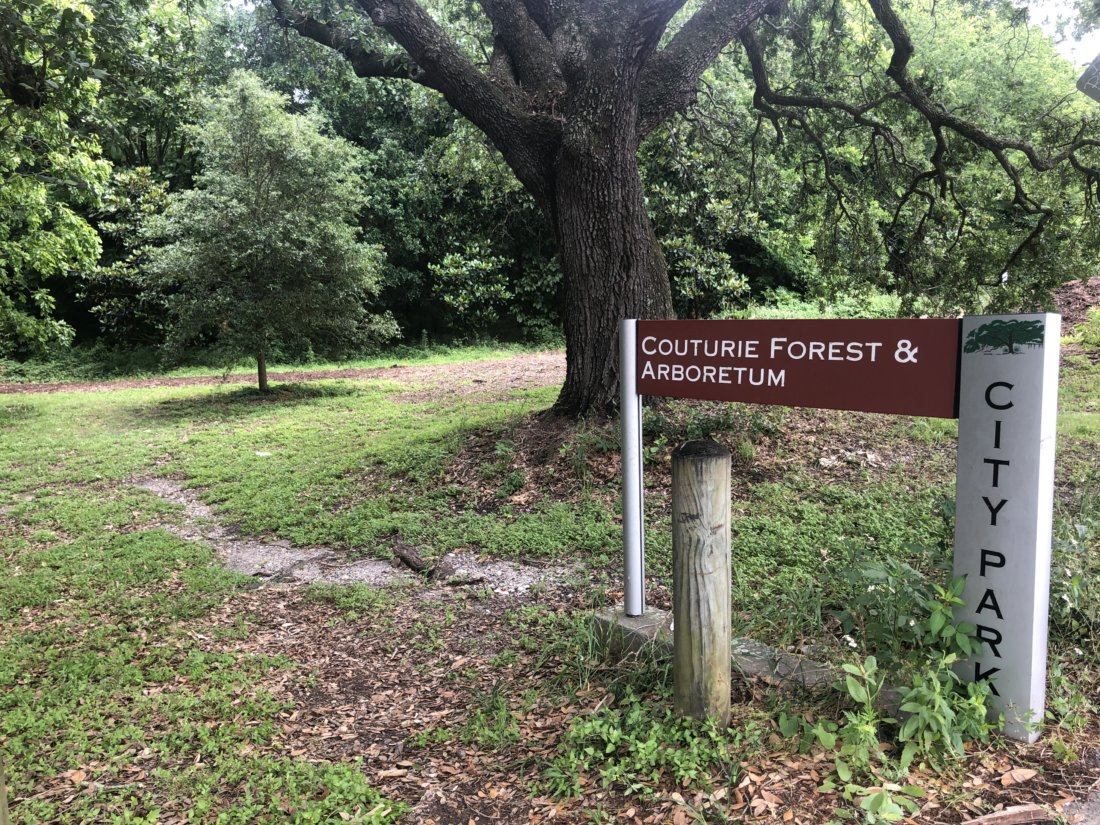 Couturie Forest trailhead (photo credit: Emily Ramirez Hernandez)