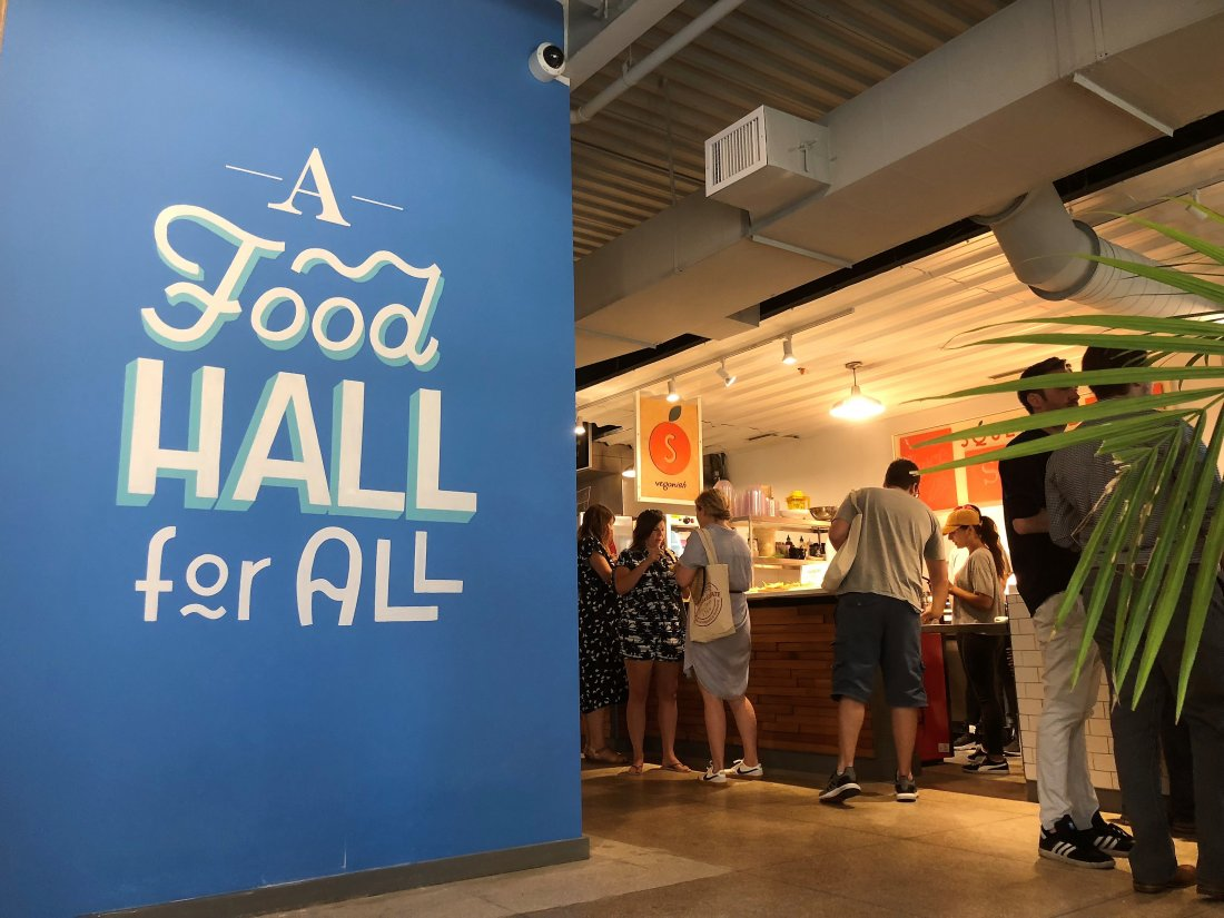 "The Pythian Market calls itself a ""food hall for all"" (photo by Emily Ramírez Hernández)"