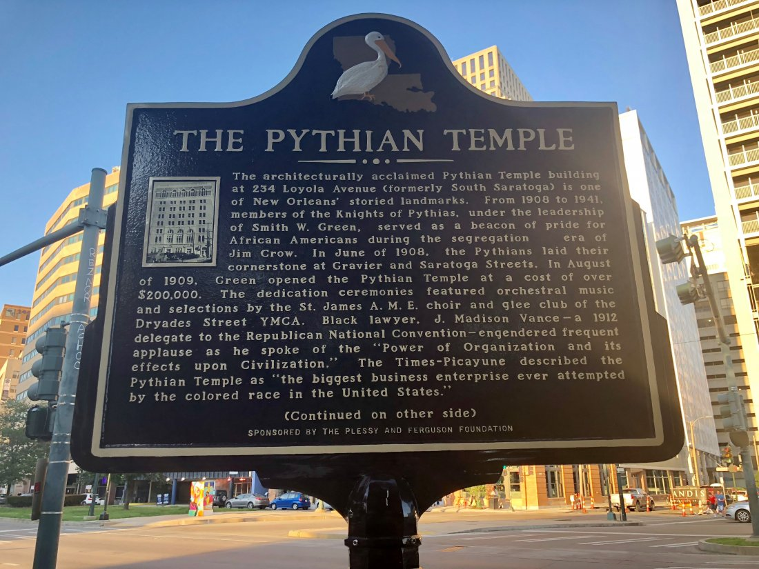 Pythian Temple historical marker (photo by Emily Ramírez Hernández)