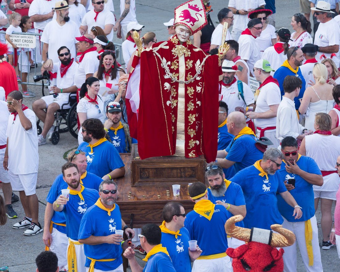 The Procession of San Fermin (photo credit: Tom Pumphret)