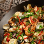 Seafood paella is on the menu at Costera (photo by Sarah Peters, Romaguera Photography)