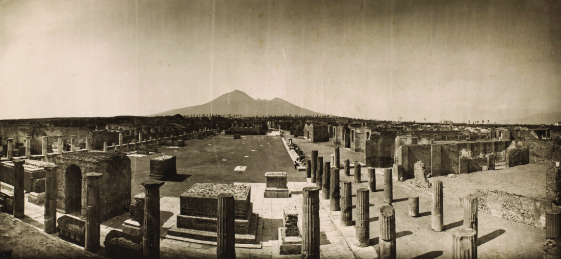 "Adolphe Braun ""Panorama of Pompei"" ca. 1868 (photo courtesy of New Orleans Museum of Art)"