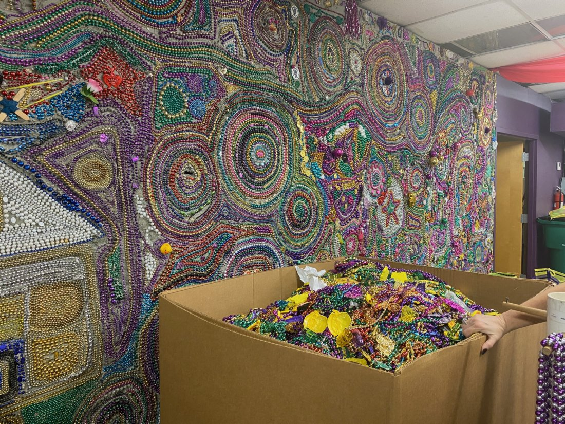 ArcGNO recycles Mardi Gras beads (photo credit: Eugenio Hernandez III)