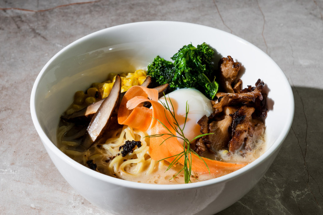 Union Ramen's Oyster-Mushroom Miso Ramen (photo credit: Monica Vo)