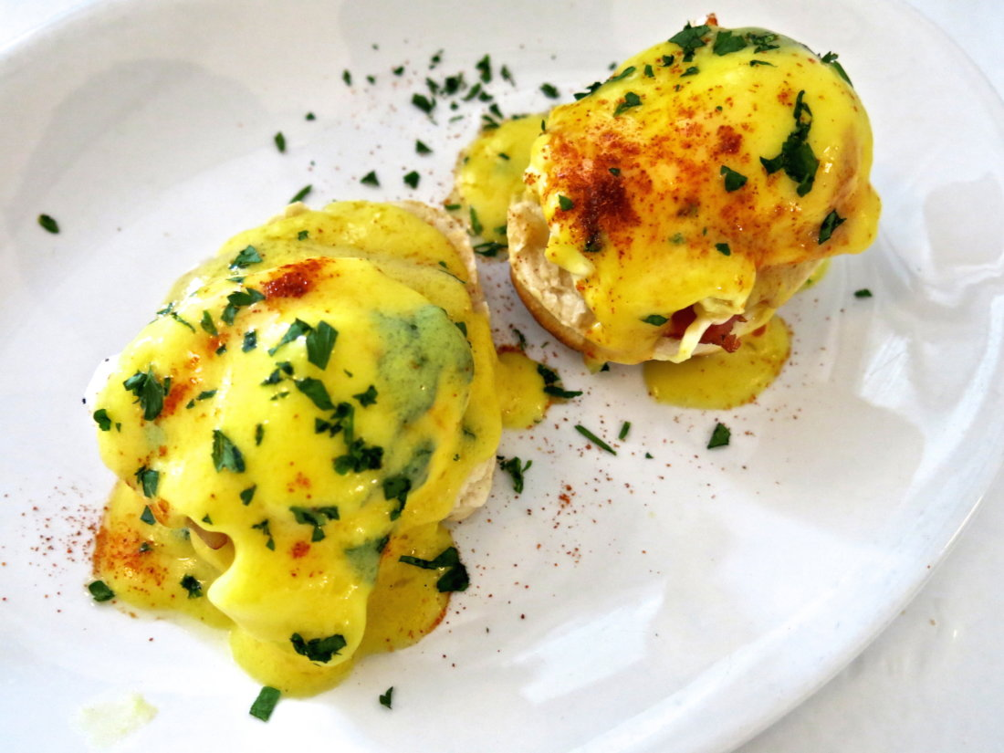 Eggs Benedict. (Photo credit: Christopher Garland.)