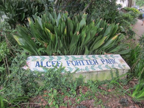 Alcee Fortier Park lies at intersection of Esplanade Avenue, Mystery Street, and Grand Route St. John. Photo courtesy Infrogmation via Flickr.