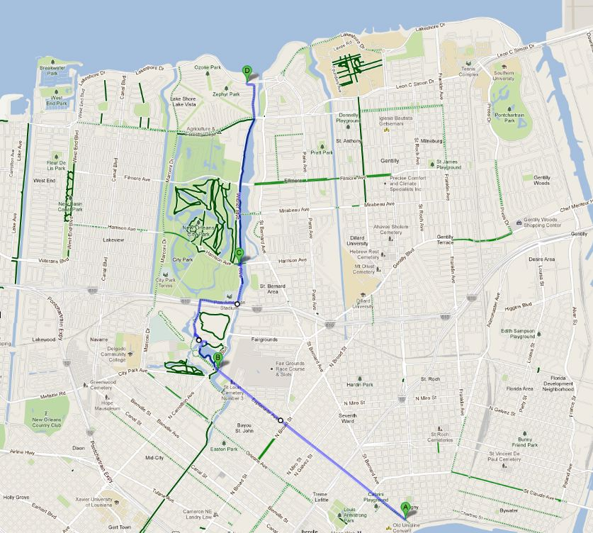 New Orleans By Bike Lake Pontchartrain GoNOLAcom