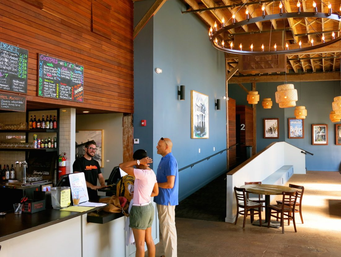 The bar at The Broad. (Photo credit: Christopher Garland.)