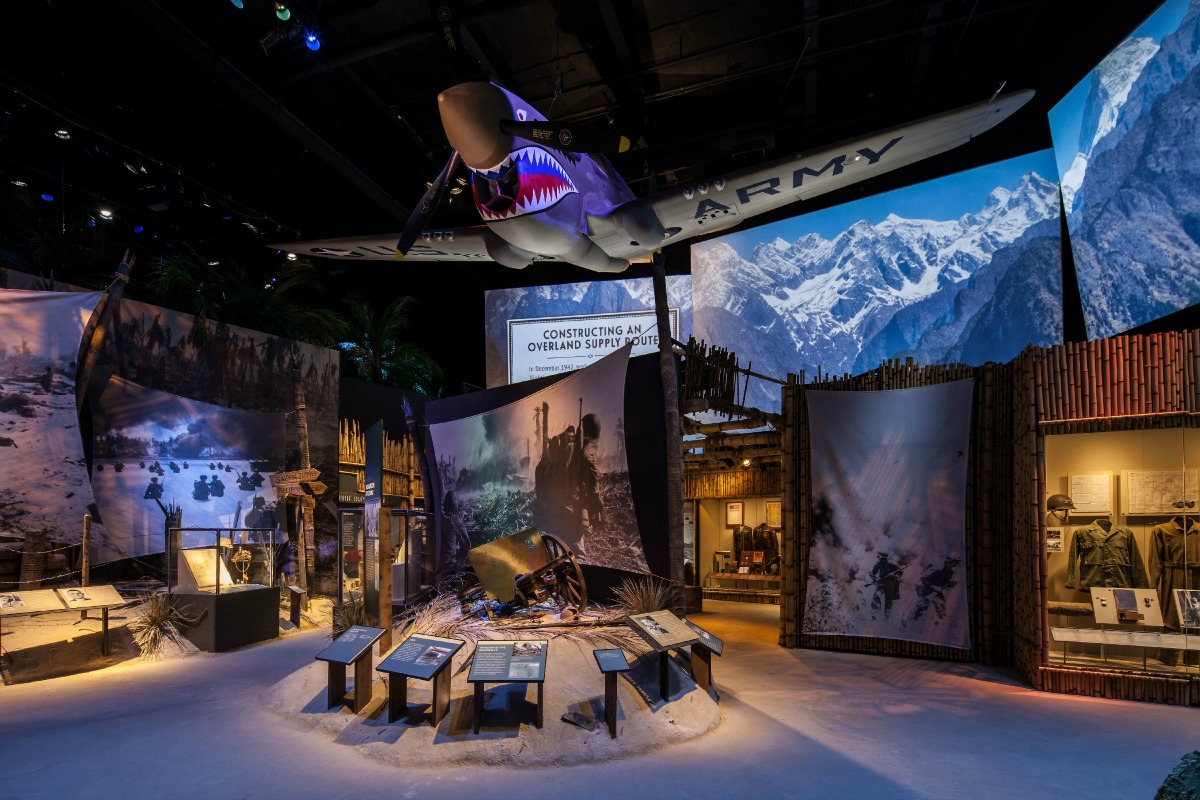 """A look inside the new """"Road to Tokyo"""" exhibit. (Photo courtesy of The National World War II Museum)"""