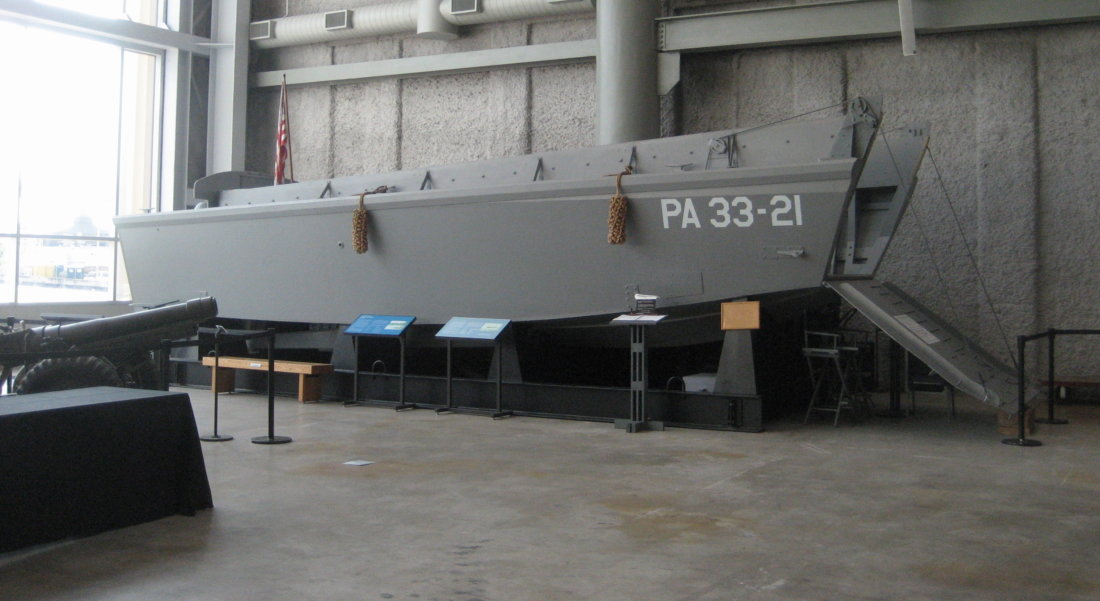 Replica Higgins Boat, on display at the National World War II Museum