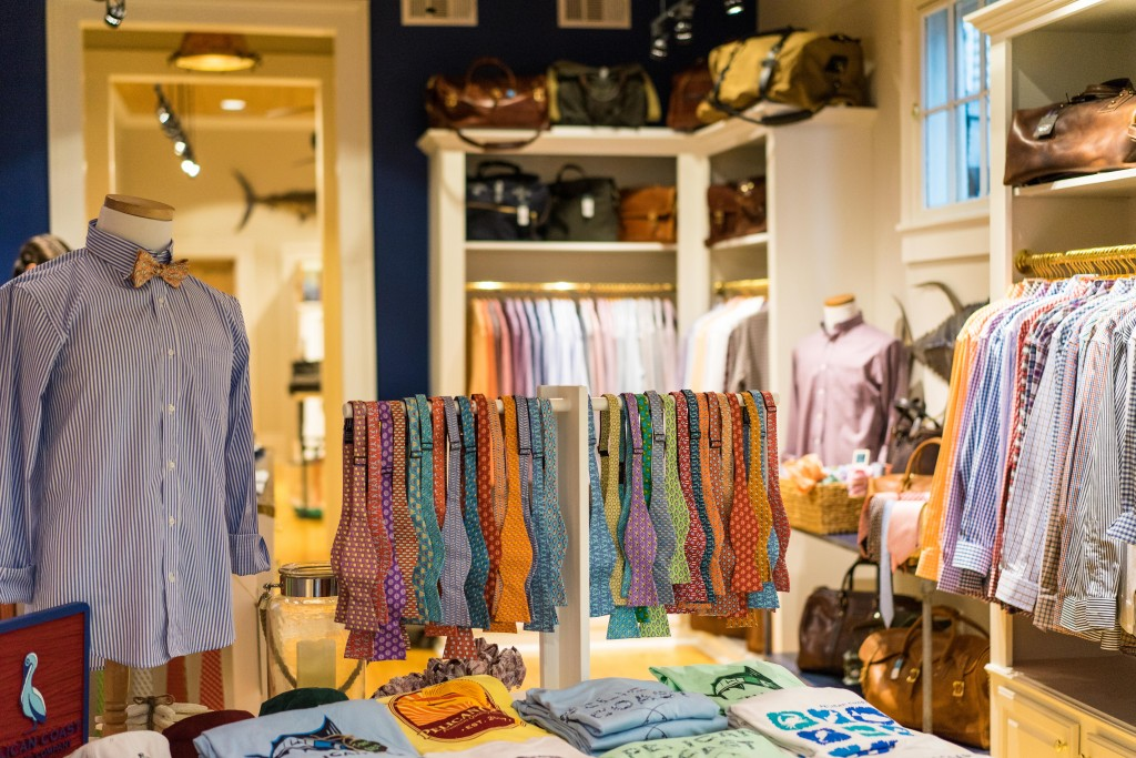 Pelican Coast Clothing features hand-made in New Orleans button down sport shirts and belts, patterned neckties and bow ties, t-shirts, boys clothing, and accessories including fine luggage at their Uptown store on Magazine Street