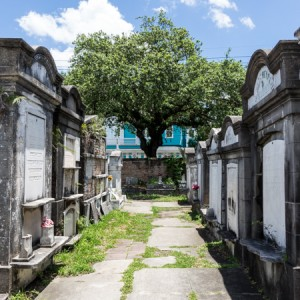 Lafayette Cemetery in the Garden District sits across the street from Commander's Palace Restaurant