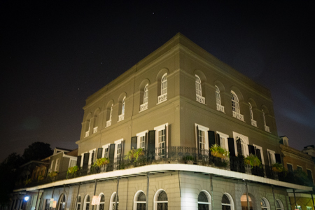 One of the French Quarter's most famous haunted sites: The LaLaurie Mansion on Royal Street