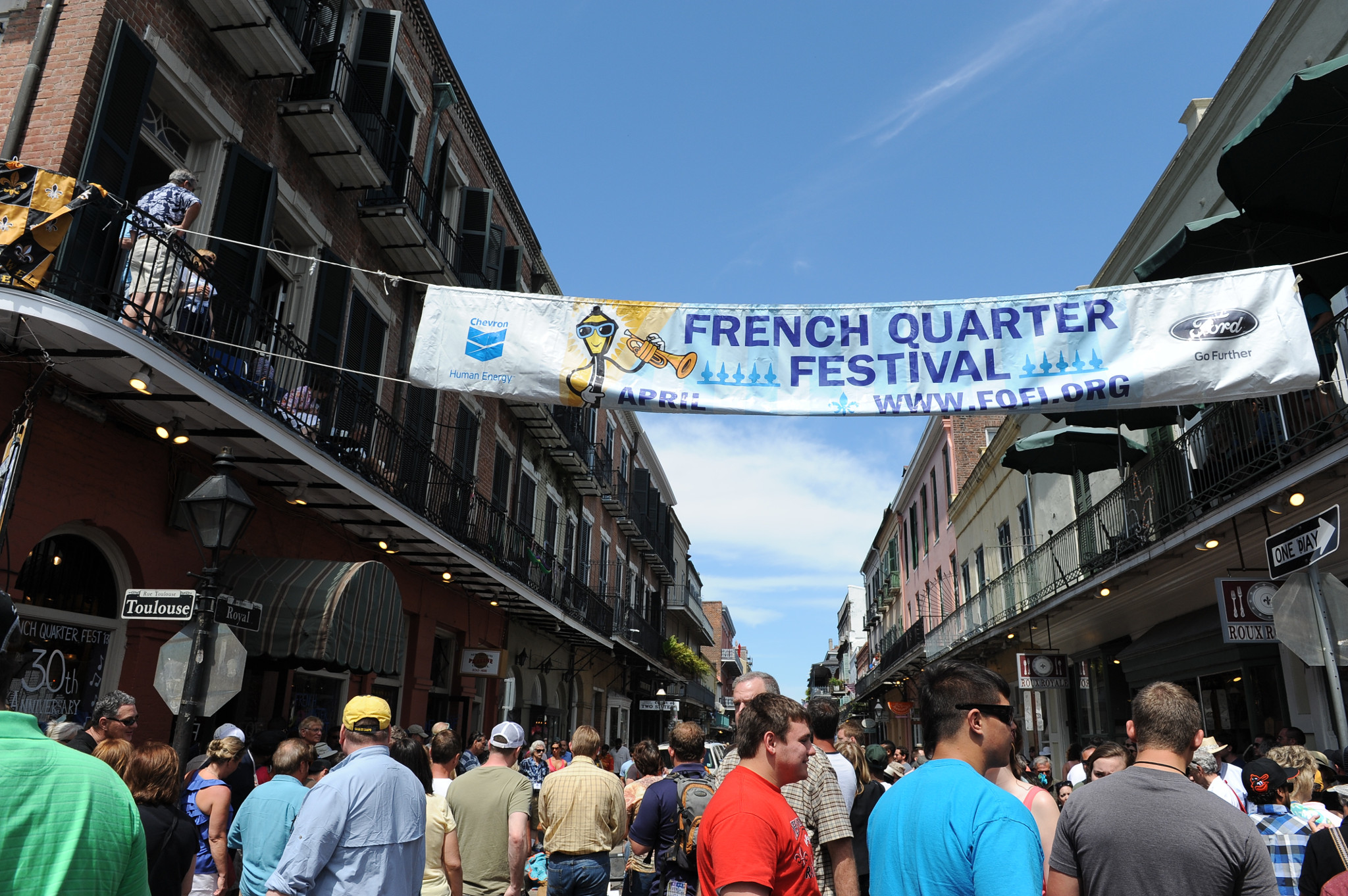 French Quarter Festival. (Photo via New Orleans Tourism Marketing Corp.)