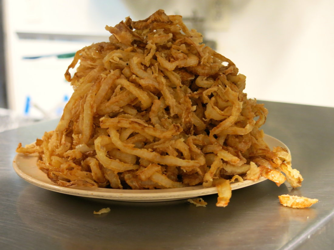 fried onions at charlies