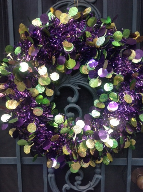 mardi gras wreath decorations new orleans