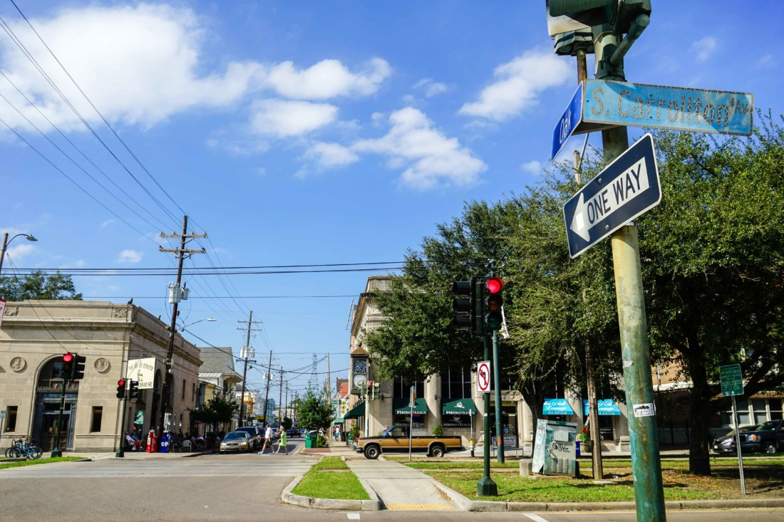 Take the historic green St. Charles Streetcar line Uptown past Audubon Park until St. Charles turns into Carrollton Avenue at the Riverbend and stops right at Oak Street's front door. Get ready for a saunter down a vibrant, unique New Orleans shopping, dining and entertainment district all in eight blocks.