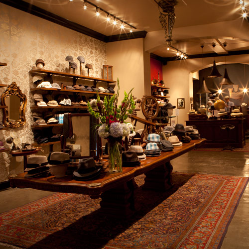 Goorin Bros. Hat Shop is located just behind St. Louis Cathedral on Royal Street. Image courtesy goorin.com