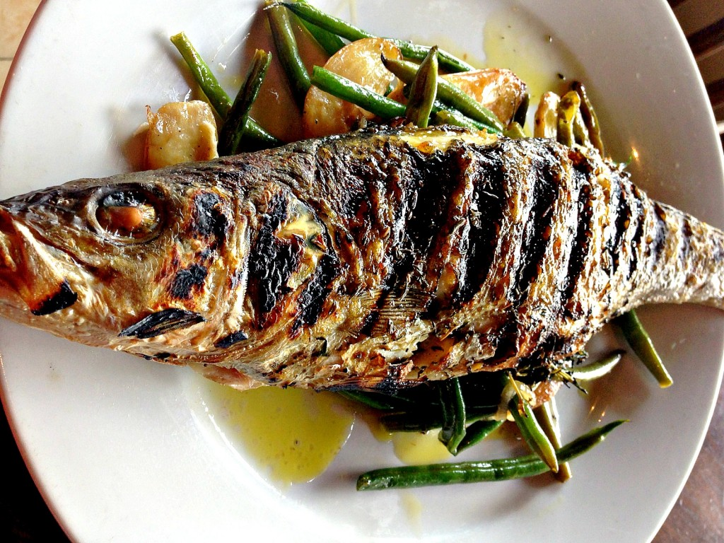 Whole Grilled Mediterranean Sea Bass