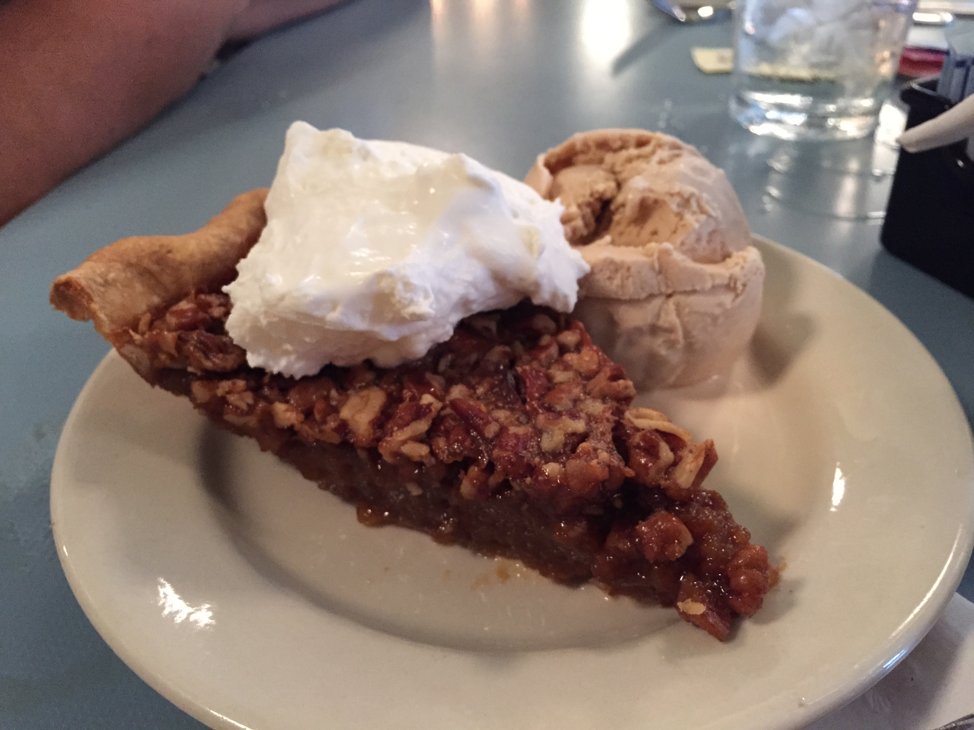 Pie with Jack Daniels ice cream at High Hat Cafe. (Photo: Emily Smith)