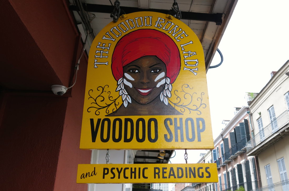The Voodoo Bone Lady. (Photo credit: Christopher Garland.)