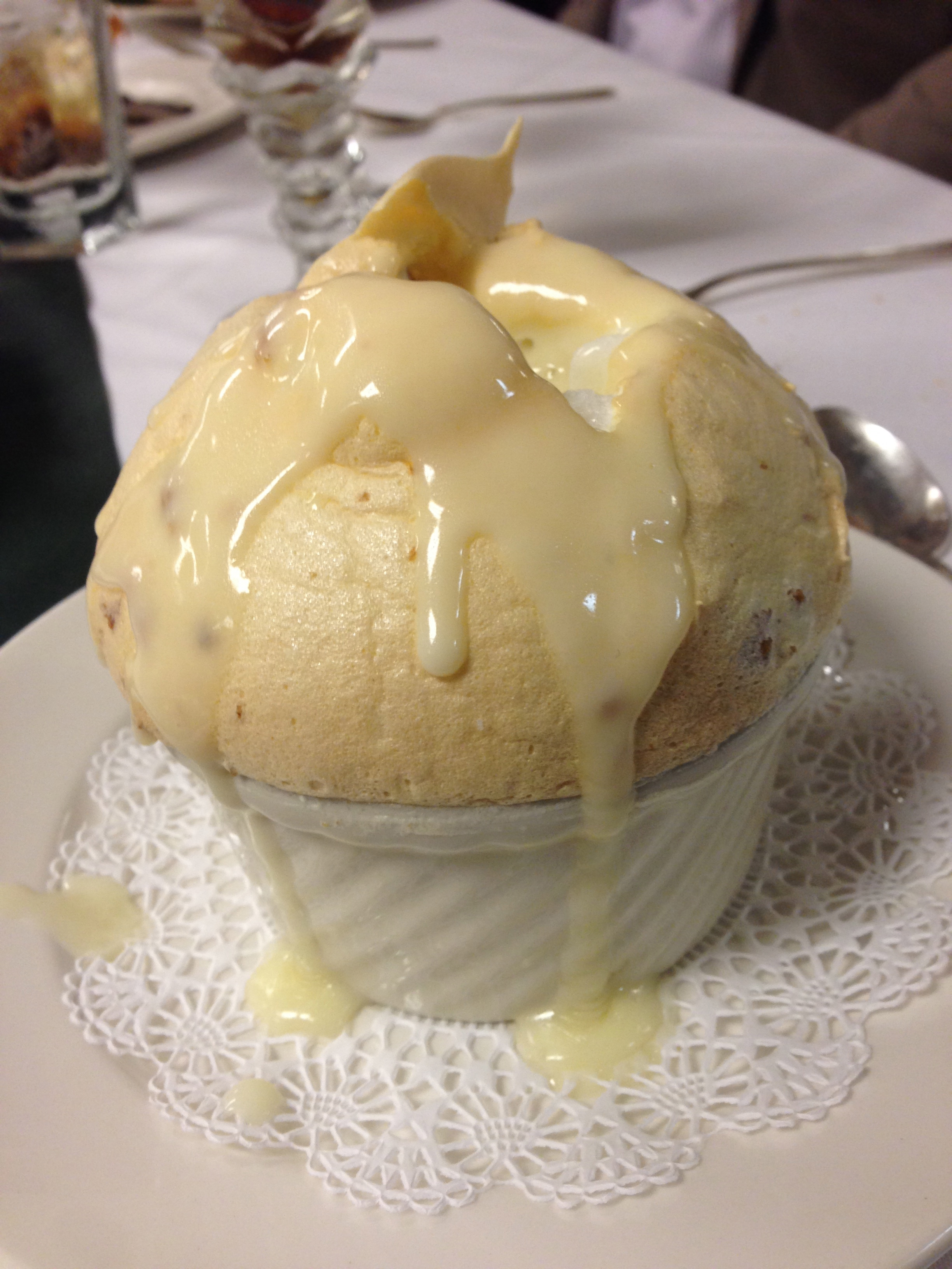 ... Bread Pudding Souffle with Warm Whiskey Sauce at Commander's Palace