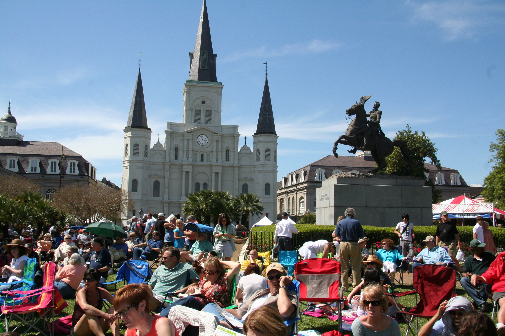 Jackson Square is one of 23 stages at French Quarter Fest, which features more than 1,700 musicians and 300 performances over four days, plus incredible food and art at every turn.