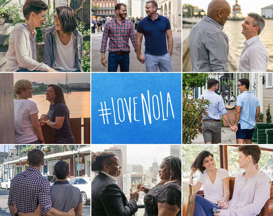 Recent shots of adorable local LGBTQ couples. Everyone can #LoveNOLA