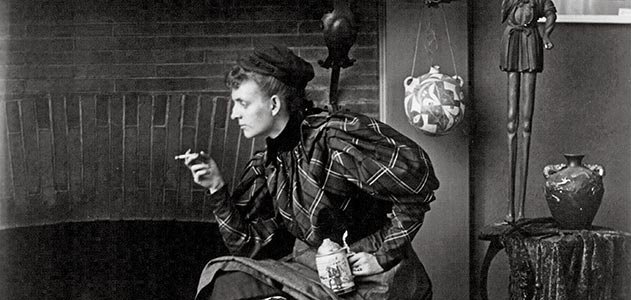Frances Benjamin Johnston self-portrait