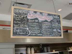 The Soda Shop chalkboard