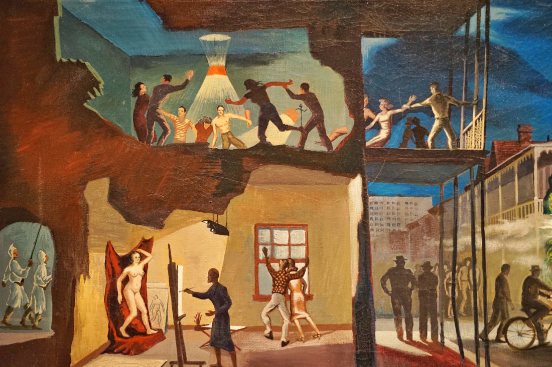 "The Ogden has a large permanent collection of Southern art throughout history, with constantly rotating special exhibitions, and events. This is one of my favorite pieces in the museum, entitled ""The Parade"" from artist John McCrady, painted in 1950. The Ogden hosts a weekly happy hour soiree called Ogden After Hours, with live music and interviews by southern musicians in the atrium with a cash bar. It's a different way to explore the museum, all while taking in the sounds of the south."