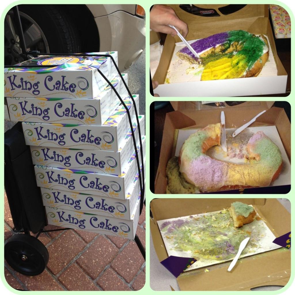 mardi gras king cakes