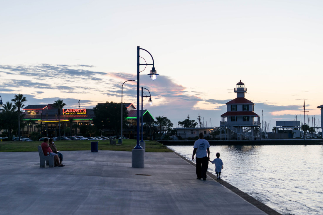 Head out to the lakefront along Lakeshore Drive and experience sunset on Lake Ponchartrain. There are benches, ample space to go for a jog, and along the lake walls, gigantic steps perfect for sitting close to the water that lead into the lake (stay out of the lake, it's got a very choppy and strong current!) Near West End Boulevard you'll find the New Canal Lighthouse and several seafood restaurants - the Blue Crab and Brisbi's are two of my favorites.