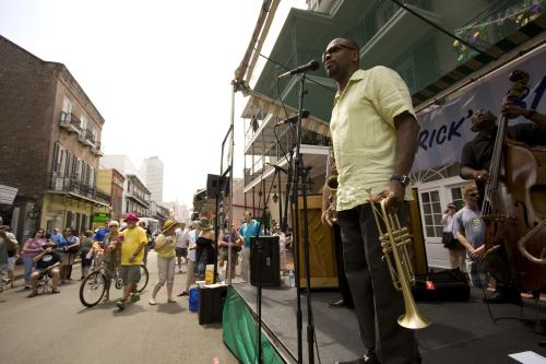 Legendary New  Orleans trumpeter Leroy Jones shares his recipe for Smothered Okra. Photo: Derek Bridges