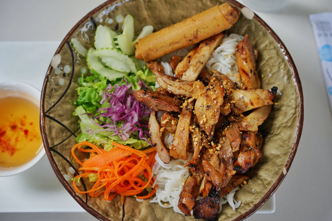 A very satisfying bowl of Bun - vermicelli noodle salad with pork summer rolls, chargrilled pork and all the pickled accompaniments. The Vietnamese in New Orleans have contributed so much to the population, culture, and fabric of New Orleans so much so that Vietnamese cuisine feels very much a part of our world-influenced ethos here. That New Orleans has one of the largest populations of Vietnamese immigrants in the world probably doesn't come as much of a shock. We're seeing new generations of Vietnamese-Americans open restaurants in the years since their parents and grandparents started coming over to New Orleans in the 1970s.