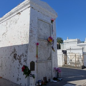 Marie Laveau's tomb in St. Louis Cemetery No. 1 is a must-see for those seeking out haunted New Orleans