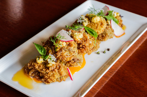 MoPho's Fried Oyster Appetizer new orleans