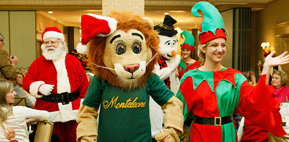 Party with Santa, his elves and Monte at Monte's Holiday Party at the Monteleone (photo courtesy of New Orleans Online)